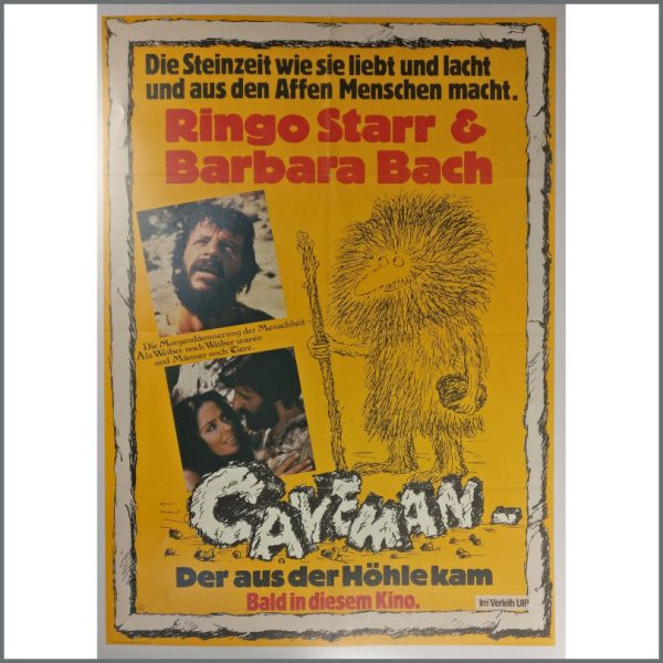 B25408 - Ringo Starr 1981 Caveman Promotional Poster (Germany)