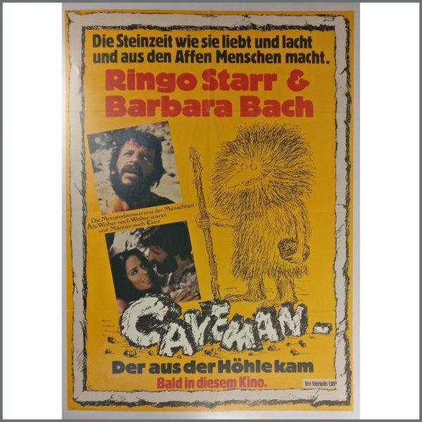 B25408 - Ringo Starr 1981 Caveman Promotional Poster (Germany)