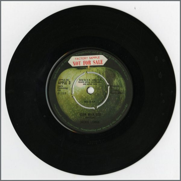 B25414 - Jackie Lomax 1968 Sour Milk Sea 7 Inch Not For Sale Demo Factory Sample APPLE 3 (UK)