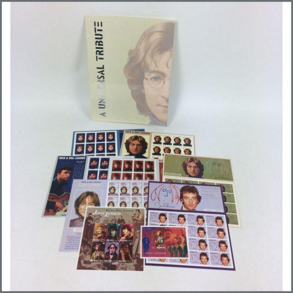 B25430 - John Lennon 1995 Universal Postal Tribute Stamp Set Collection (USA)