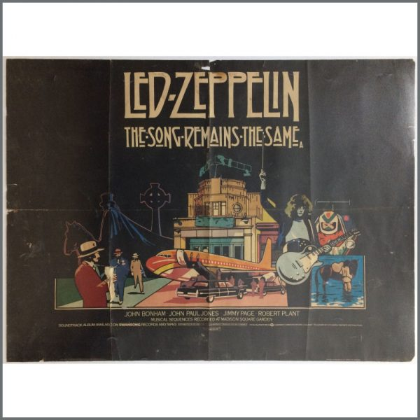 B25469 - Led Zeppelin 1976 The Song Remains The Same Promotional Cinema Quad Poster (UK)