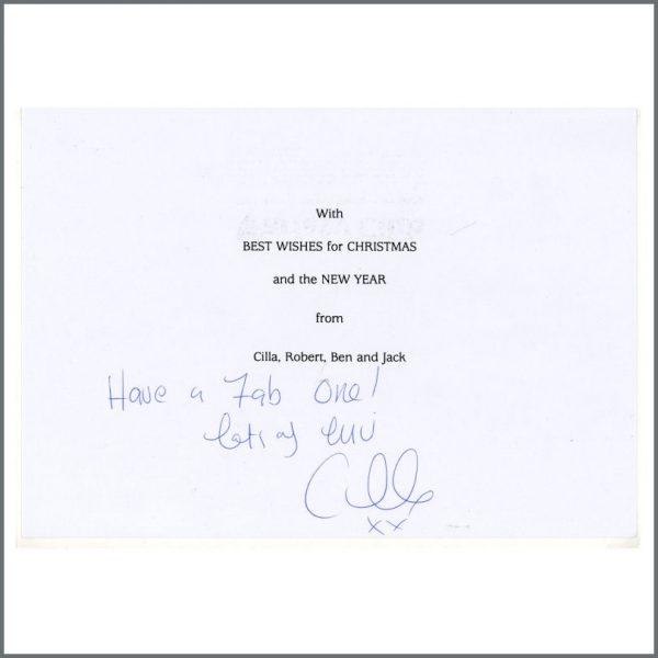 B25472 - Cilla Black Autographed Christmas Card (UK)