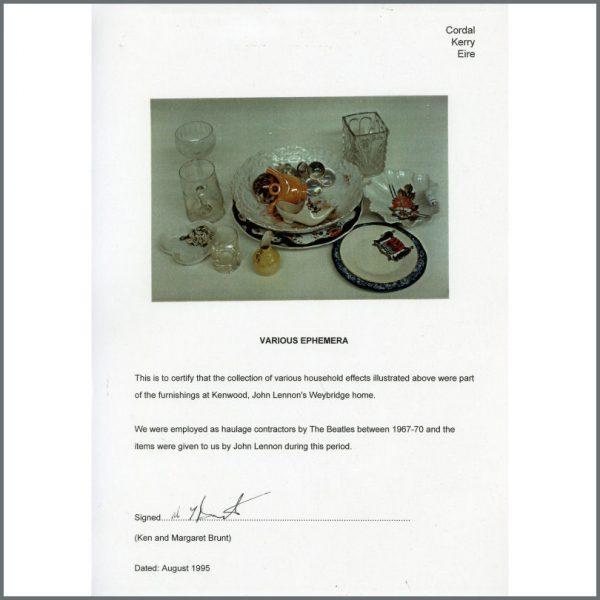 B25506 – John Lennon Owned – Kenwood Polished Decorative Shell (UK) 2