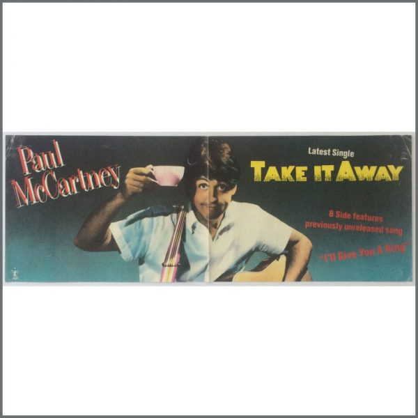 B25514 - Paul McCartney 1982 Take It Away Promotional Poster (UK)