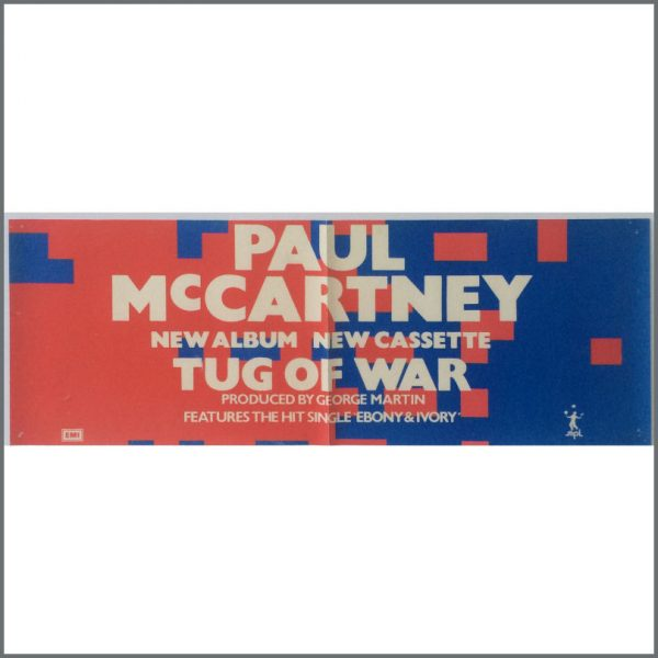 B25515 - Paul McCartney 1982 Tug Of War Album Promotional Poster (UK)