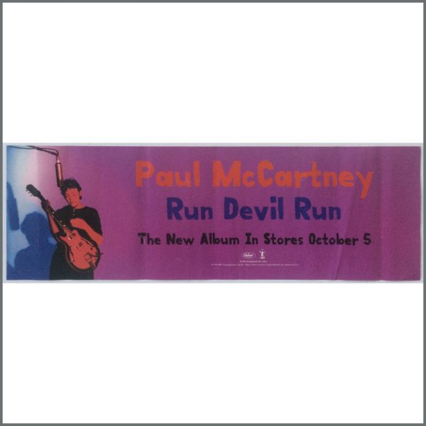 B25516 - Paul McCartney 1999 Run Devil Run Promotional Poster (USA)