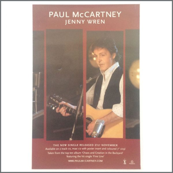 B25517 - Paul McCartney 2005 Jenny Wren Single Promotional Poster (UK)