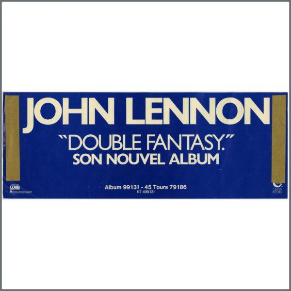 B25545 - John Lennon 1980 Double Fantasy Geffen Unused Promotional Poster (France)