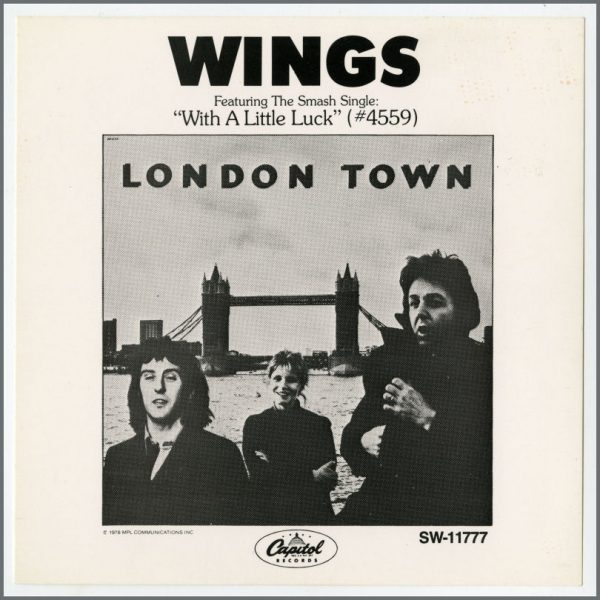 B25561 - Wings 1978 London Town Capitol Records Promotional Flyer (USA)