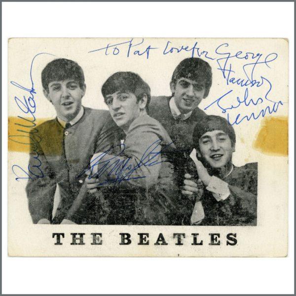 B25624 - The Beatles 1963 Autographed Fan Club Card (UK)