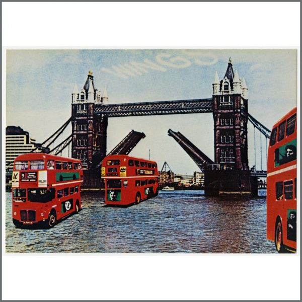 B25638 - Wings 1978 London Town Promotional Postcard (UK)