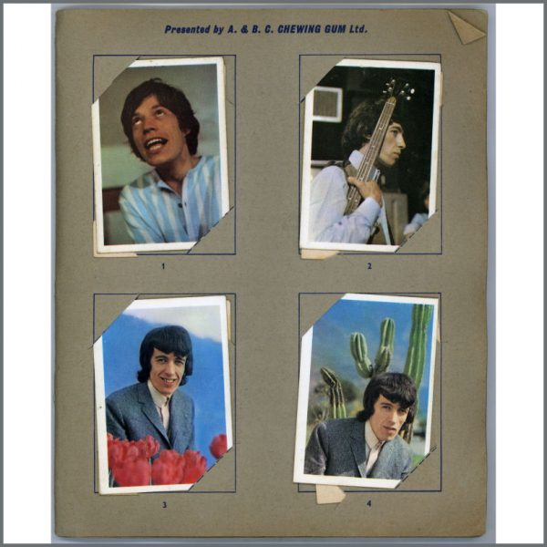 B25681 – Rolling Stones 1960s A&BC Chewing Gum Cards Set 1-40 Full Set (UK) 2
