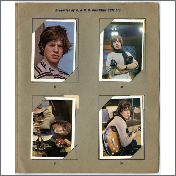 B25681 – Rolling Stones 1960s A&BC Chewing Gum Cards Set 1-40 Full Set (UK) 8