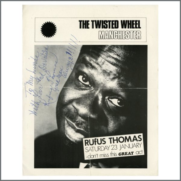 B25691 - Rufus Thomas Autographed Handbill (UK)