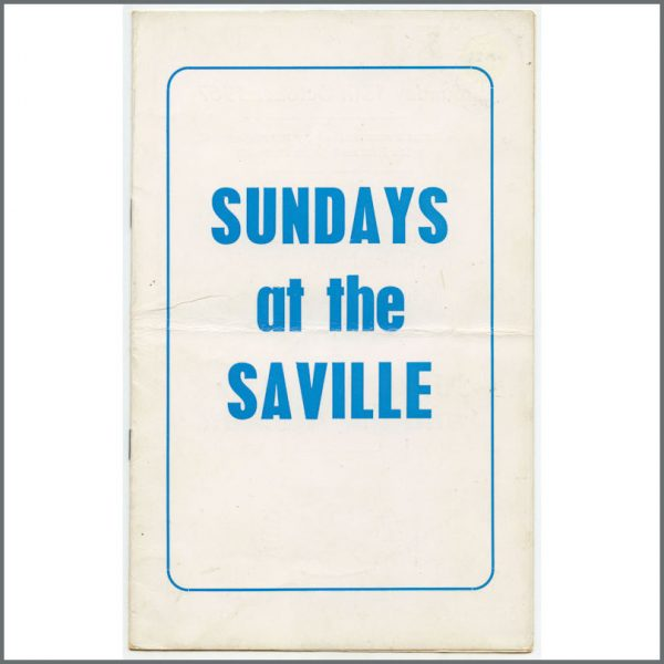 B25736 - The Who 1967 Sundays At The Saville Junior Walker Programme (UK)