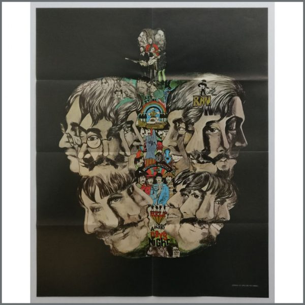 B25738 – The Beatles 1971 Fan Club Apple Tree Poster & Envelope (USA) 1