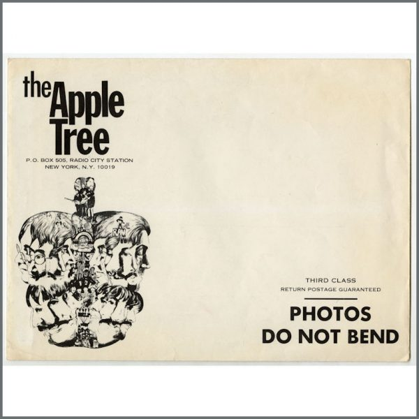 B25738 – The Beatles 1971 Fan Club Apple Tree Poster & Envelope (USA) 2