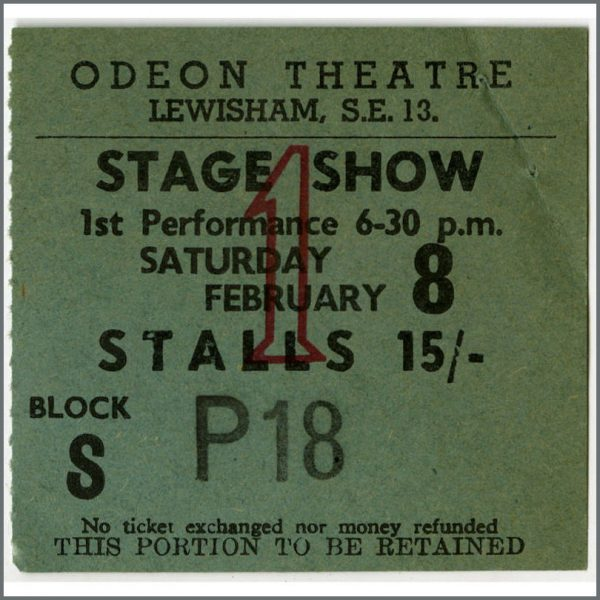 B25741 - The Iveys / Badfinger 1969 Lewisham Odeon Concert Ticket Stub (UK)