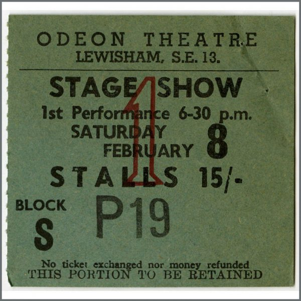 B25742 - The Iveys / Badfinger 1969 Lewisham Odeon Concert Ticket Stub (UK)