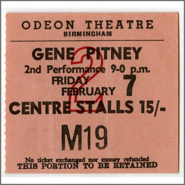 B25743 - The Iveys / Badfinger 1969 Birmingham Odeon Concert Ticket Stub (UK)