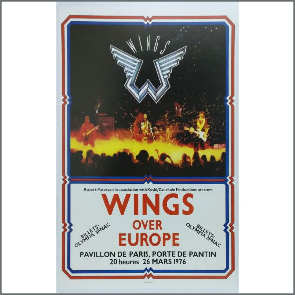 B25751 - Paul McCartney And Wings 1976 European Tour Posters