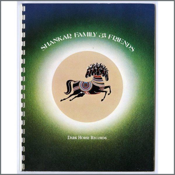 B25766 - George Harrison Dark Horse Records 1974 Ravi Shankar Family & Friends Press Book