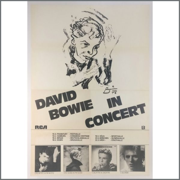 B25782 - David Bowie 1978 Isolar II Tour Poster (Germany)