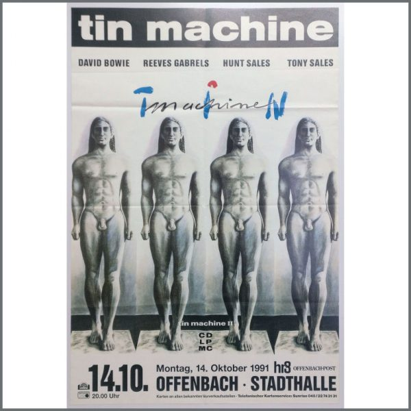 B25783 - David Bowie 1991 Tin Machine Offenbach Concert Poster (Germany)