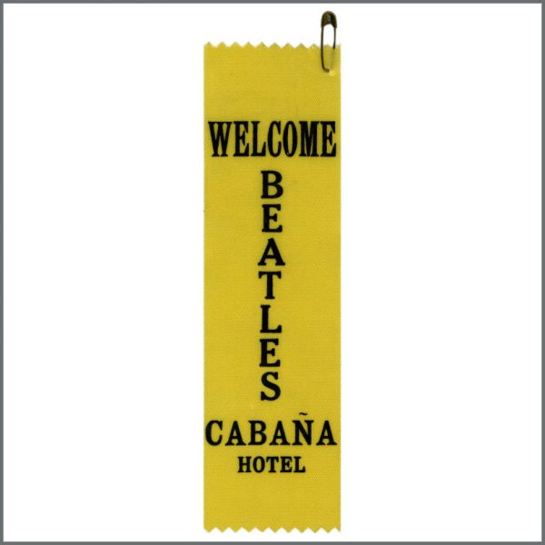 B25785 - The Beatles 31st August 1965 Cabana Hotel Staff Sash (USA)