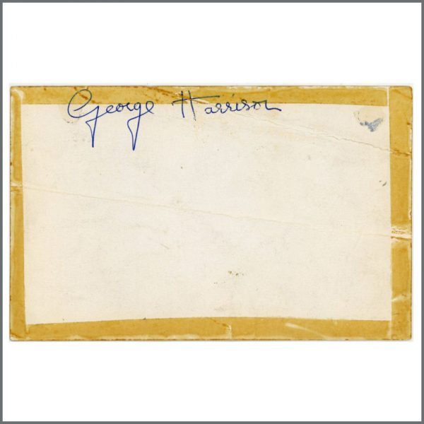 B25810 - George Harrison 1963 Autographed Parlophone Promotional Card (UK)