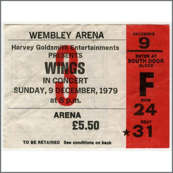 B25836 - Paul McCartney 1979 Wings Wembley Arena Concert Ticket Stub (UK)
