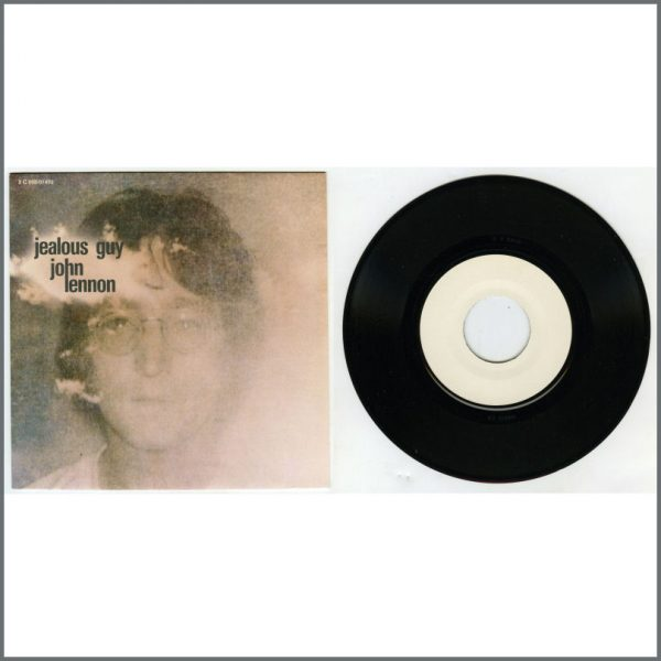 B25853 – John Lennon 1981 Jealous Guy Pathé Marconi White Label Test Pressing (France) 1