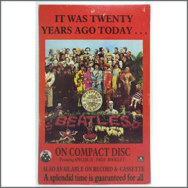 B25867 – The Beatles 1987 Sgt Peppers It Was Twenty Years Ago Today Shop Display (UK) 1