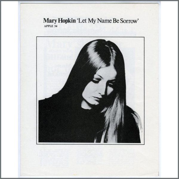 B25884 - Mary Hopkin 1971 Apple Records Biography (UK)
