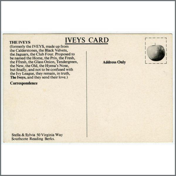 B25886 – The Iveys 1960s Apple Records Promotional Postcard (UK) 2