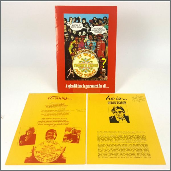 B25903  - The Beatles 1987 It Was Twenty Years Ago Today Book Press Kit (UK)