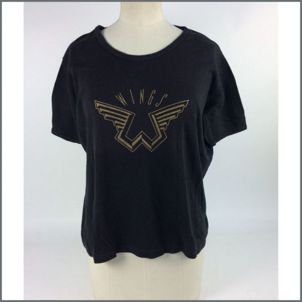 B25915 - Paul McCartney 1970s Wings Logo Promotional T-Shirt (UK)