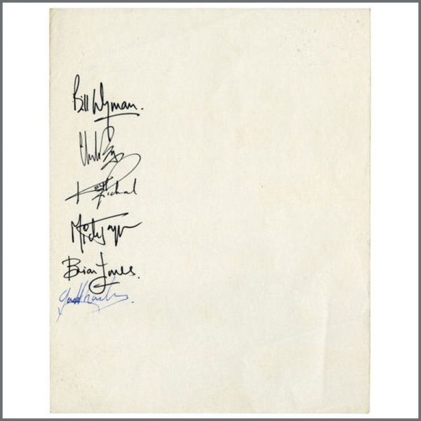 B25923 - Bob Wooler 1964 Mindbenders Fans Cavern Club Petition Signed By The Rolling Stones (UK)