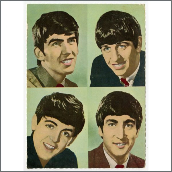 B25938 - The Beatles 1963 Set Of Dezo Hoffmann Large Picture Postcards (Germany)