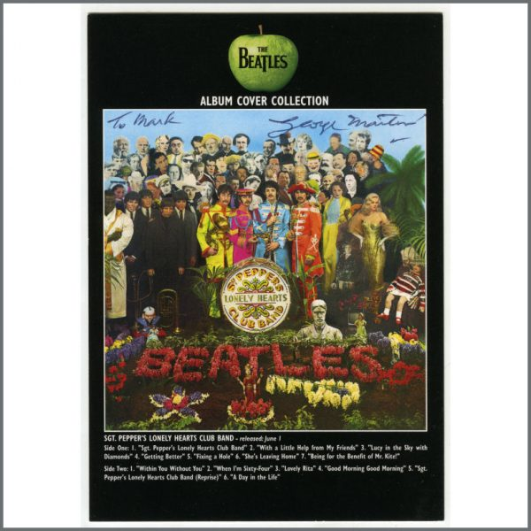 B25941 - The Beatles 2009 George Martin Autographed Sgt. Pepper's Lonely Hearts Club Band Apple Corps Postcard (UK)