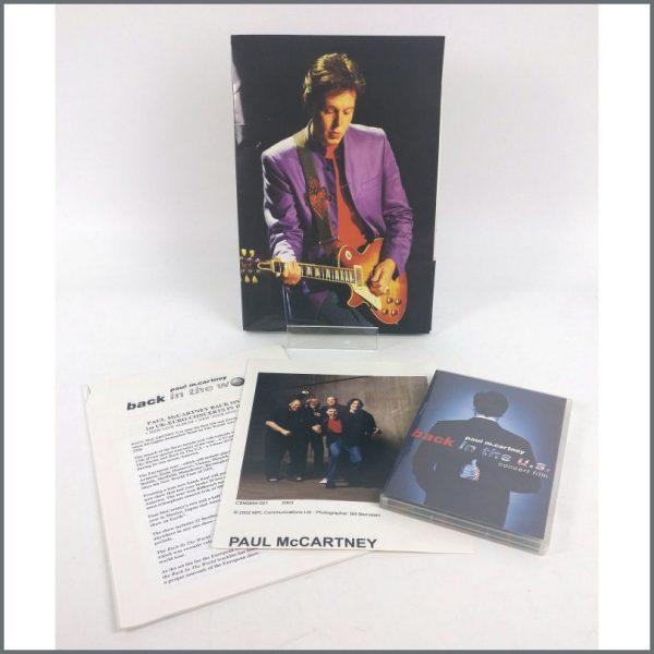 B25942 - Paul McCartney 2002 Back In The World Live Promotional Press Kit (UK)