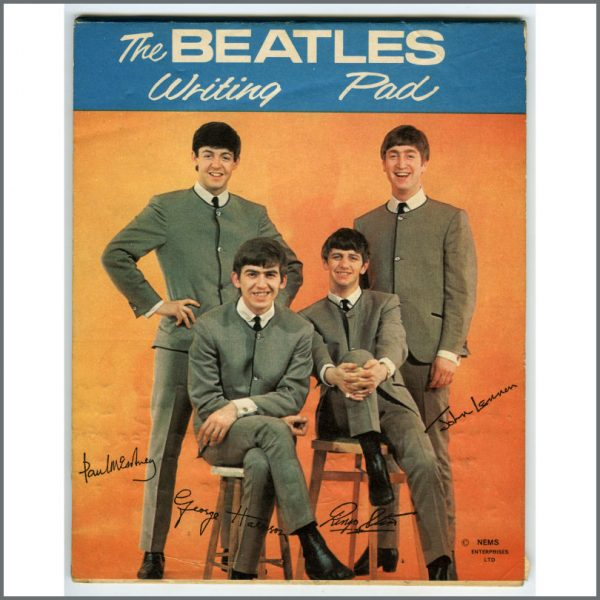 B26011 - The Beatles 1964 F.W. Woolworth & Co Writing Pad (UK)