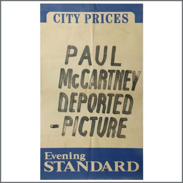 B26040 - Paul McCartney 1980 Japanese Arrest London Evening Standard Billboard Poster (UK)