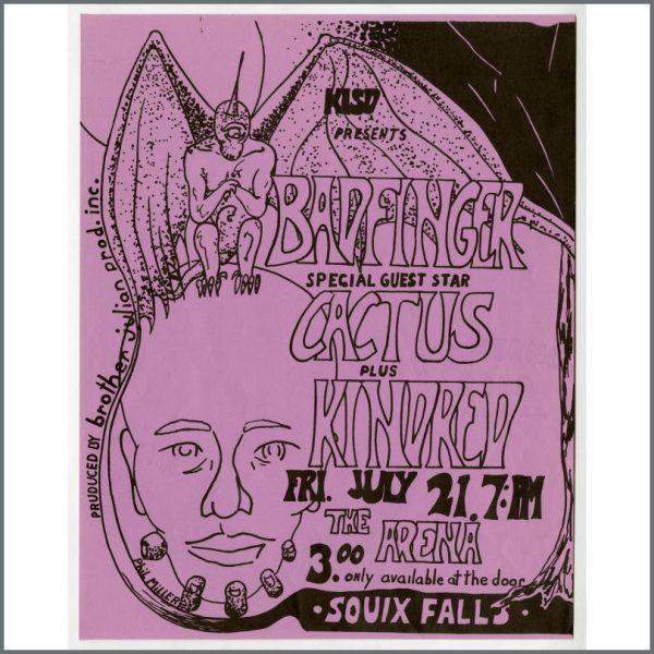 B26096 - Badfinger 1972 Souix Falls South Dakota Concert Handbill (USA)