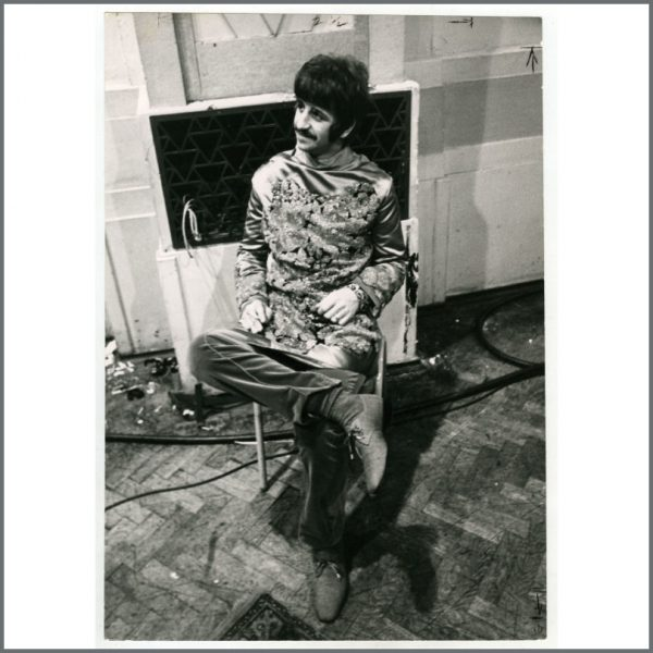 B26103 - Ringo Starr 1967 Our World All You Need Is Love Vintage Photograph (UK)