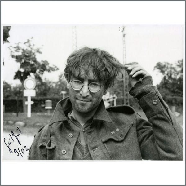 B26122 - John Lennon 1966 How I Won The War Gunter Zint Signed Photograph (Germany)