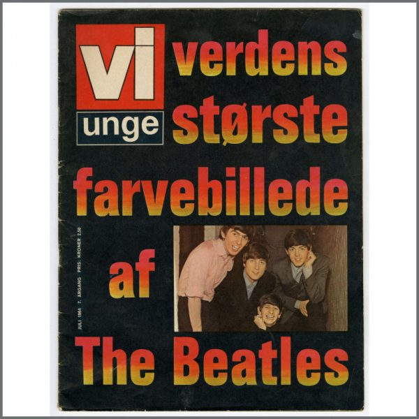 B26141 - The Beatles 1964 Vi Unge Magazine (Denmark)