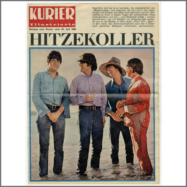 B26148 - The Beatles 1965 Kurier Illustrierte Magazine (Germany)