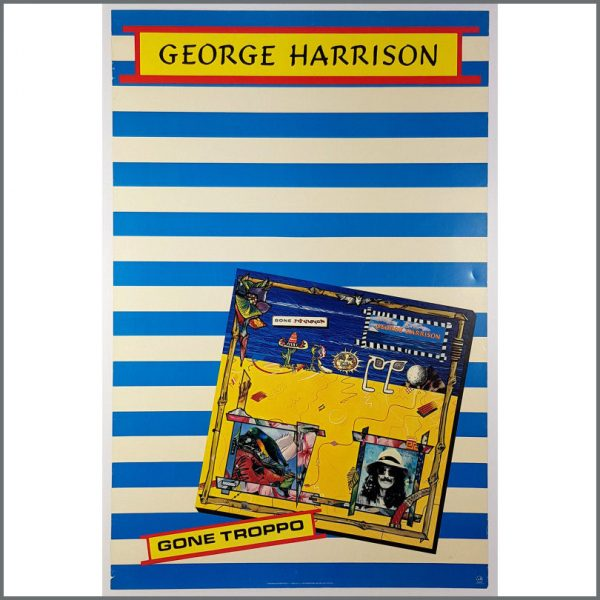 B26162 - George Harrison 1982 Gone Troppo Promotional Poster (USA)
