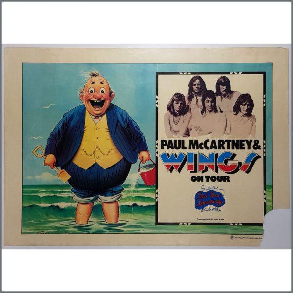 B26163 - Paul McCartney 1973 Autographed Wings Fatman UK Tour Poster (UK)